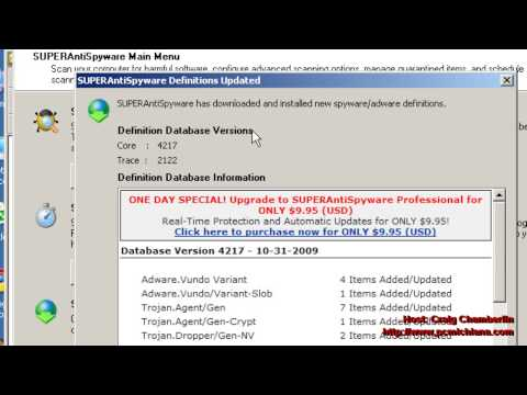 Virus Removal Ep. 6: Run SuperAntiSpyware Online Scanner Spyware Removal Properly