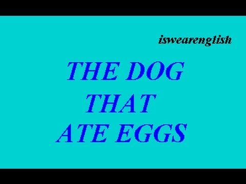 The Dog that Ate Eggs - Aesop's Fables -  ESL British English Pronunciation