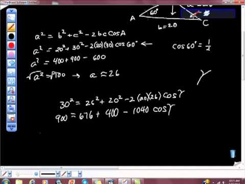Solve the Triangle Law of Cosines