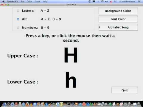 SpeakABCs For Macintosh Tutorial - Free Software for Children