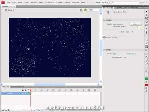 New Features - Flash CS4 11: The Spray Brush Tool
