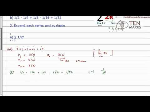 Summation Notation and Series Evaluation
