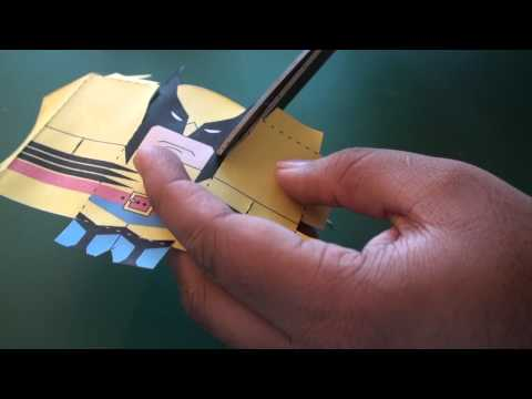 Popular Craft Projects - 008: Paper Wolverine Box Figure (Finger Puppet X-Men) - TCGames [HD]
