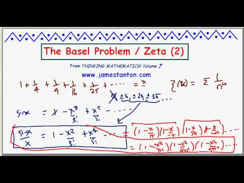 The Basel Problem / The value of zeta two / Wallis' Product (TANTON Mathematics)