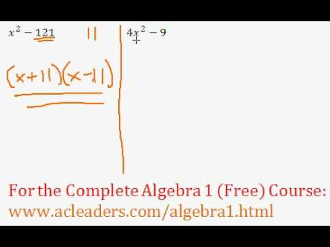 Polynomials - Difference of Two Squares Questions #3-4