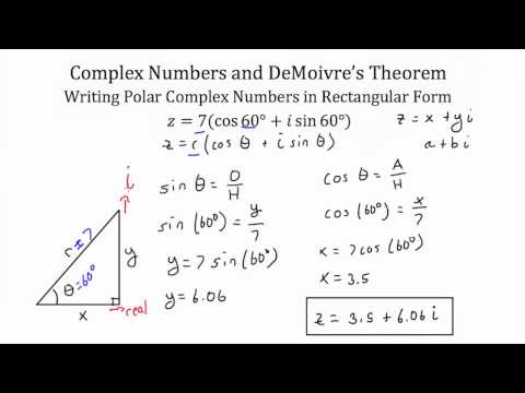Using De Moivre's Theorem