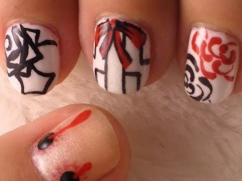 Vampire Knight Inspired Nail Art