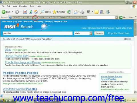 Windows XP Tutorial Searching the Internet for Information Microsoft Training Lesson 7.3