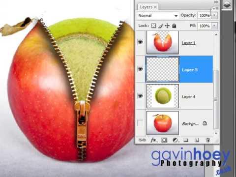 Unzip an apple in Photoshop (Part 2 of 2) - Week 26