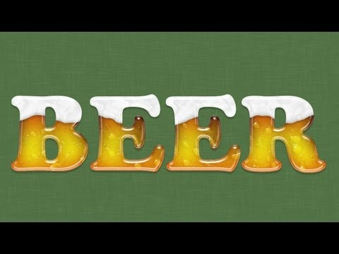 Photoshop: Beer Text Effect