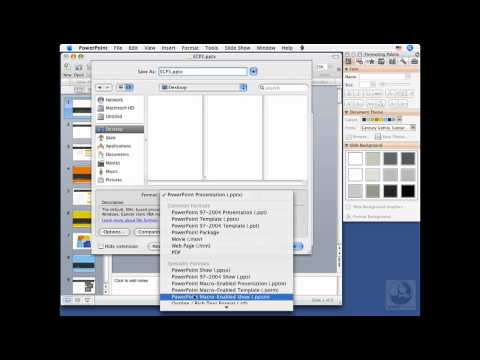 PowerPoint for Mac: Saving presentations   lynda.com