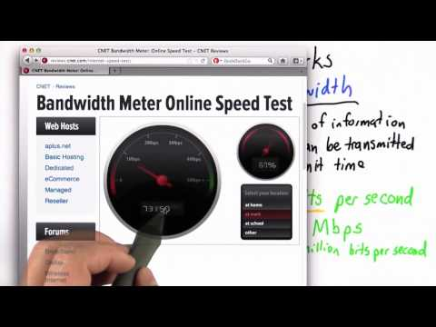 What Is Your Bandwidth - CS101 - Udacity