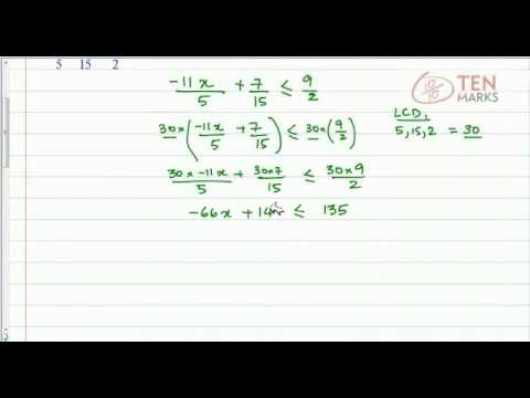 Solve Inequalities that contain Fractions