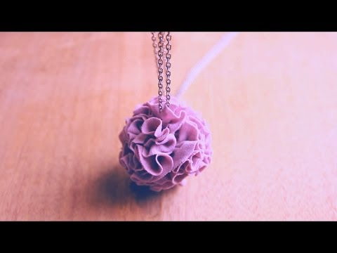 Spring DIY Flower Necklace