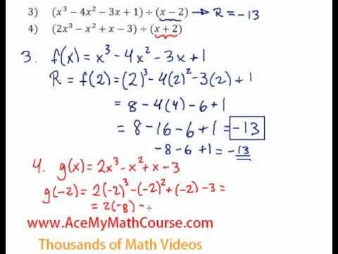 Remainder Theorem - Question #4
