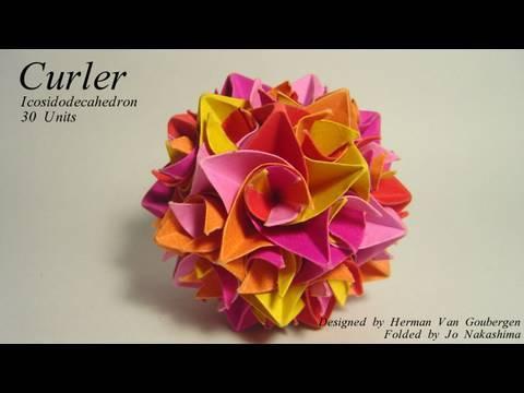 Origami Curler Icosidodecahedron (Herman Van Goubergen )