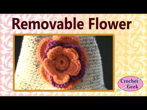 Removable Crochet Flower