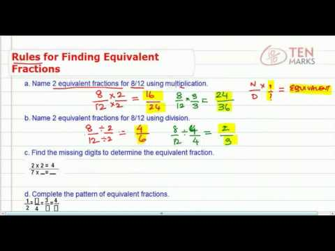 Rules to Find Equivalent Fractions