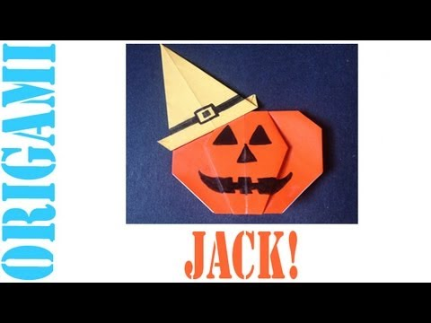 Origami Daily - 033: Halloween Jack O' Lantern With Witche's Hat - TCGames [HD]