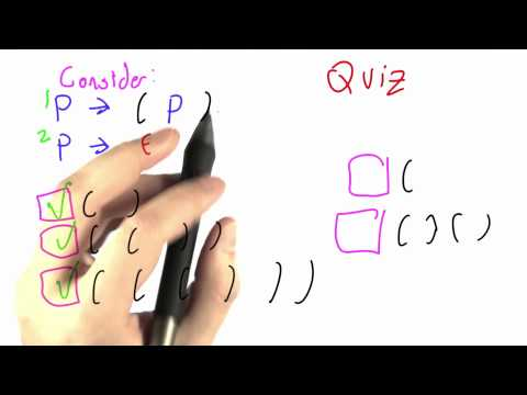 Parentheses Solution - CS262 Unit 3 - Udacity