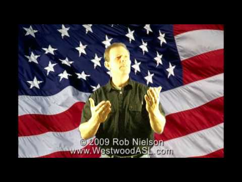 Star-Spangled Banner in American Sign Language (ASL, National Anthem, Fourth of July, July 4th)