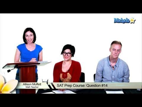 SAT Math Prep Course Question #14