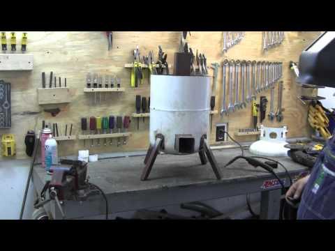 propane tank rocket stove  2/3