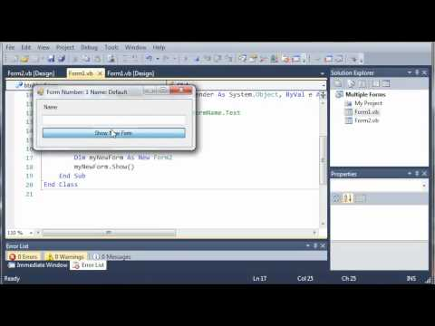 Visual Basic Tutorial - 99 - More On Multiple Forms