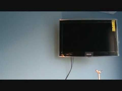 How to hide the cabling to a wall mount tv