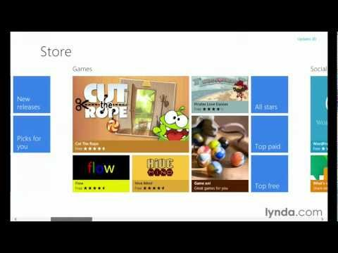 Exploring the Windows 8 Store | lynda.com tutorial