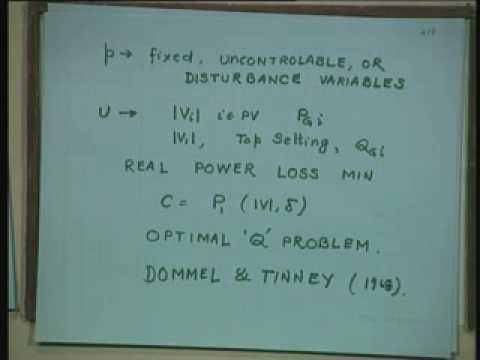 Lecture - 34 Optimal Generation Scheduling