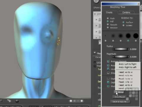 Using Morph Tools - Poser 8 - Poser Pro 2010 Tutorial