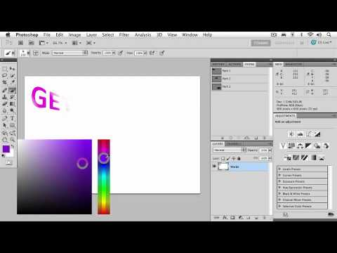 Adobe Photoshop CS5 Advanced Ch 7 PAINTING  The HUD Color Picker & Converting Type to a Path