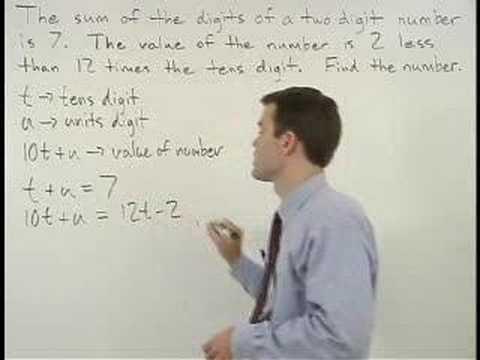 Digit Word Problems - YourTeacher.com - Algebra Help