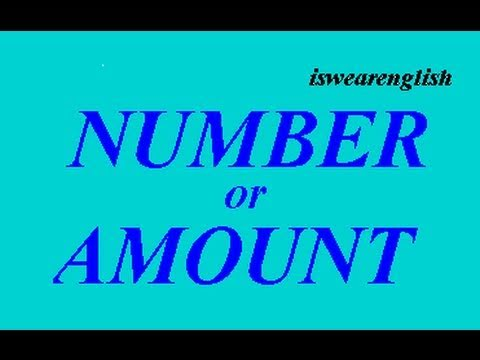 Number or Amount  - The Difference - ESL British English Pronunciation