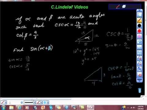 Trigonometry Addition and Subtraction Formulas for Sine Cosine 20