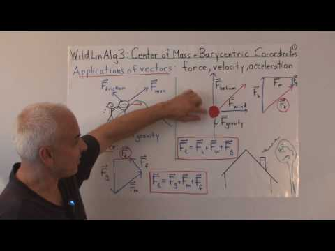 WildLinAlg3a: Center of mass and barycentric coordinates