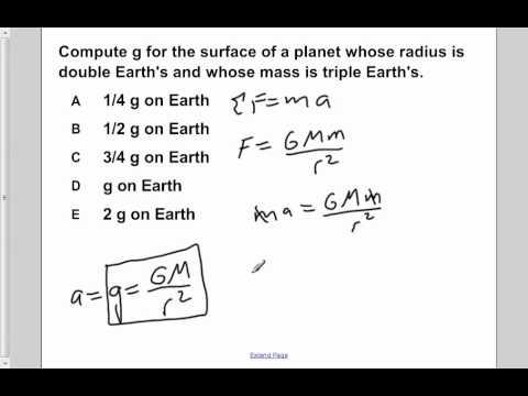 AP Physics B Universal Gravitation Presentation #4