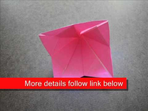 How to Fold Origami Bell Flower - OrigamiInstruction.com