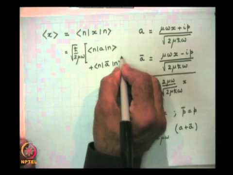 Mod-07 Lec-26 The Linear Harmonic Oscillator using Bra and Ket Algebra (contd.)