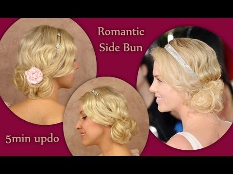 Charlize Theron Golden Globes 2012 curly updo hairstyle for medium long hair tutorial for wedding