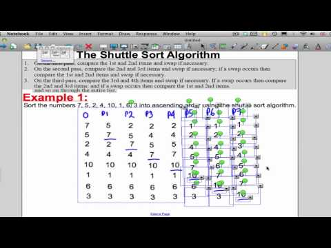 Shuttle Sort Algorithm (Decision Maths 1)
