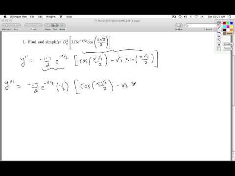 Math 2600 Take Home Assignment 02 Key