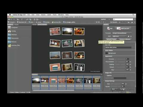 Adobe Bridge CS5: Creating a web gallery | lynda.com tutorial