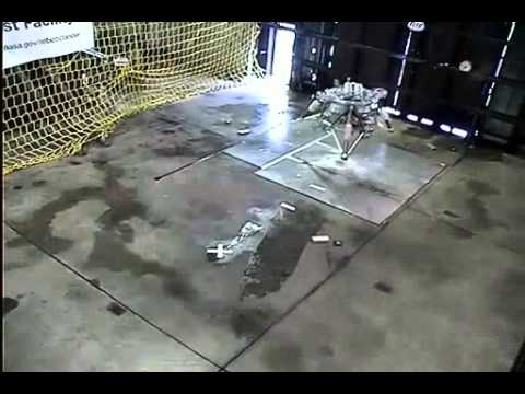 Robotic Lander Gets Sideways During Test
