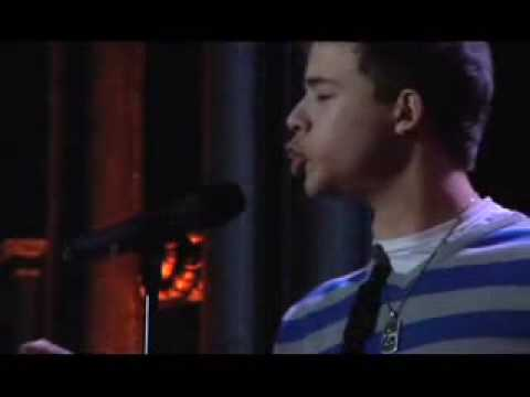 Miles Hodges at the 2008 Urban Word NYC Teen Poetry Slam Fin