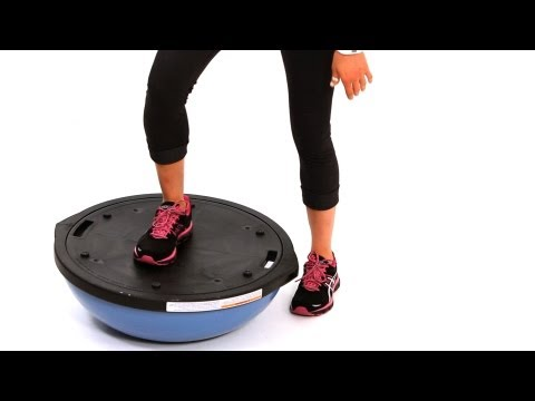 How to Do a Step Up with a Bosu Ball | Exercise Ball Workout