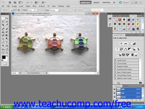 Dreamweaver CS5 Tutorial Opening an Image in Adobe Photoshop Adobe Training Lesson 4.12