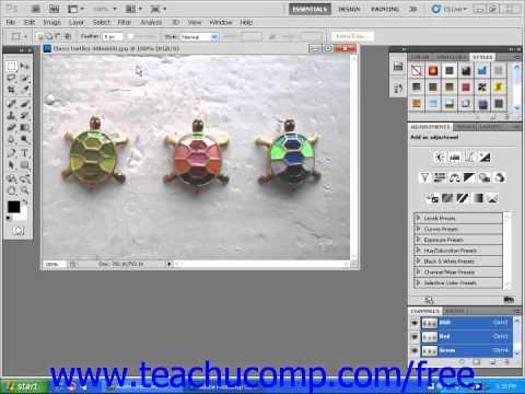 Dreamweaver CS5 Tutorial Opening an Image in Adobe Photoshop Adobe Training Lesson 4.12