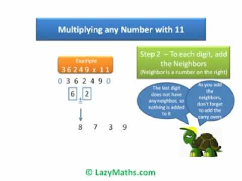 Ex 2  Multiplying any number with 11